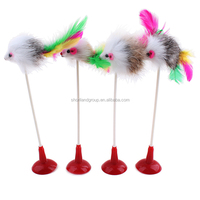Hot Sale Pet Production Cat Toys Cat Teaser Stick Soft Fur Head Cat Toy