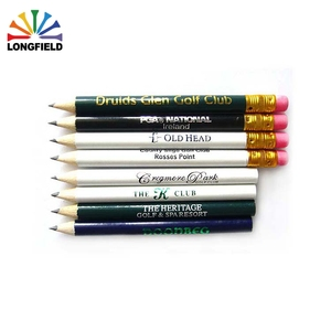 Wholesale Custom Print Golf Pencil 2B Wooden With Logo In 2018