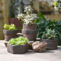 Retro Cement Flower Pots Imitation Screw