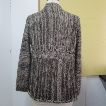 good quality autumn 2017 100% acrylic imitation mohair cable knit cardigan women