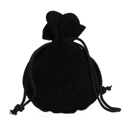Promotion Wholesale Yiwu Drawstring Oval Curved Gourd Shape Velvet Wedding Party Pouches Favour Gifts Bags Jewellery Pouch