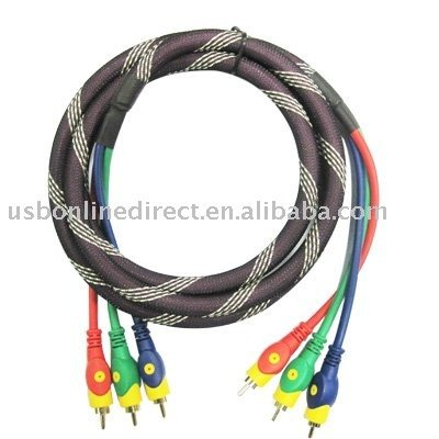 Component Video Cable 3 RCA to 3 RCA Cable