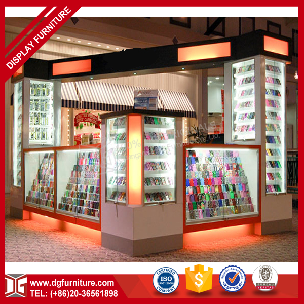 Modern retail wooden glass cell mobile phone display counter