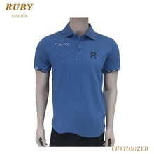 Customized Your Own Logo Polyester Fabric Plain Mens Polo Shirts