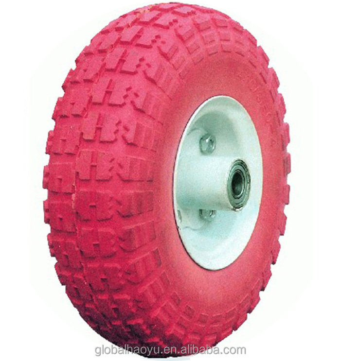 8 Inch Wheelbarrow Pu Foam Tyre For Hand Trolley