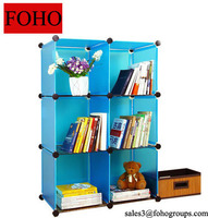 Small Bedside DIY PP Portable Plastic Wall Shelf for Books,Toys and Magazines