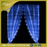 illuminated fiber optic led light up modern living room canopy bed curtains