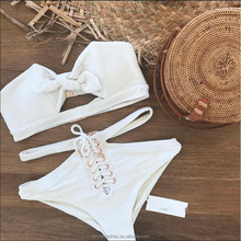 2018 Latest New Arrival Women Sexy Swimwear Women's one-piece swimsuit white color band bikini
