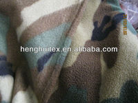 100 polyester military Camouflage rotary printed two side brushed one side anti-pilling polar fleece fabric