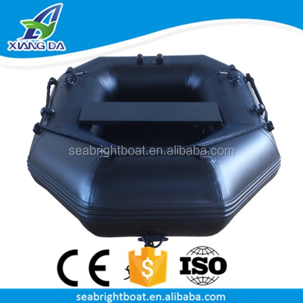 CE Approved PVC Material Foldable Fishing Pontoon 1 Man Inflatable Boat