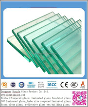 high strength 12mm tempered glass for stairs with certifcation