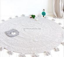 coolwin high quality crochet rug with cotton tassels