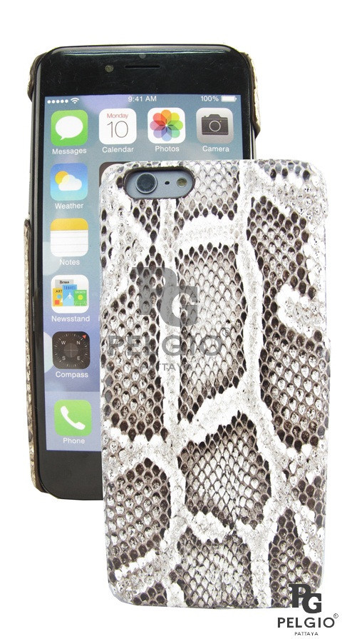 "PELGIOGenuine Python Skin i6 4.7"" Hard Case Natural"