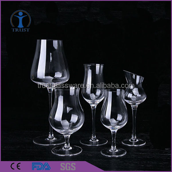 A Variety Of Specifications Inclined Mouth Thick Stem Summer Fresh Unusual Wedding Tin Tulip Shaped Wine Glass