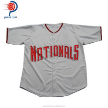 Newest high quality sublimated printing custom baseball jersey