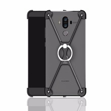 X Shape Ring Holder case Metal Protect Bumper Back Cover Case for Huawei Mate 9
