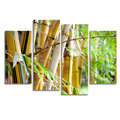 Bamboo Photo Canvas Painting Modern HD Photography Printing on Canvas 4-Panel Nature Scenery Giclee Print
