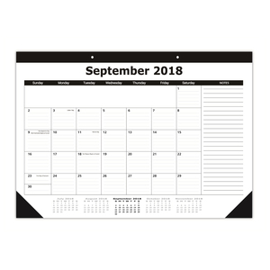 22x17 inches Custom High Quality Paper Desk Pad Calendar Planner 2019