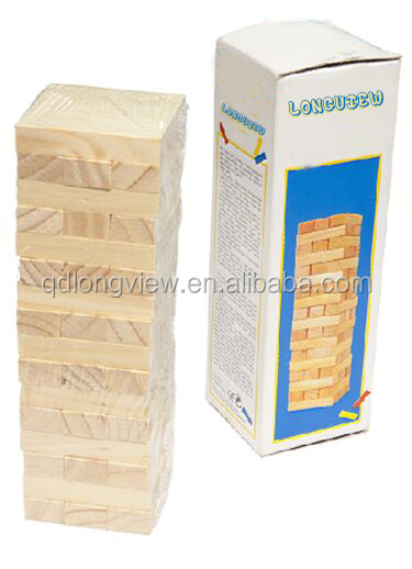 Factory price high quality intellectual educational wooden Jenga for kids