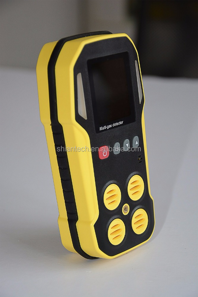 Portable Multi-5 <strong>gas</strong> detecting alarm for CO, H2S, CH4, <strong>O2</strong> and CO2 with data logging function