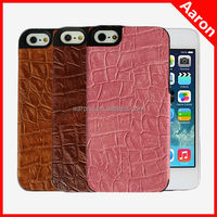 Real alligator pattern lagging leather case for iphone 5s