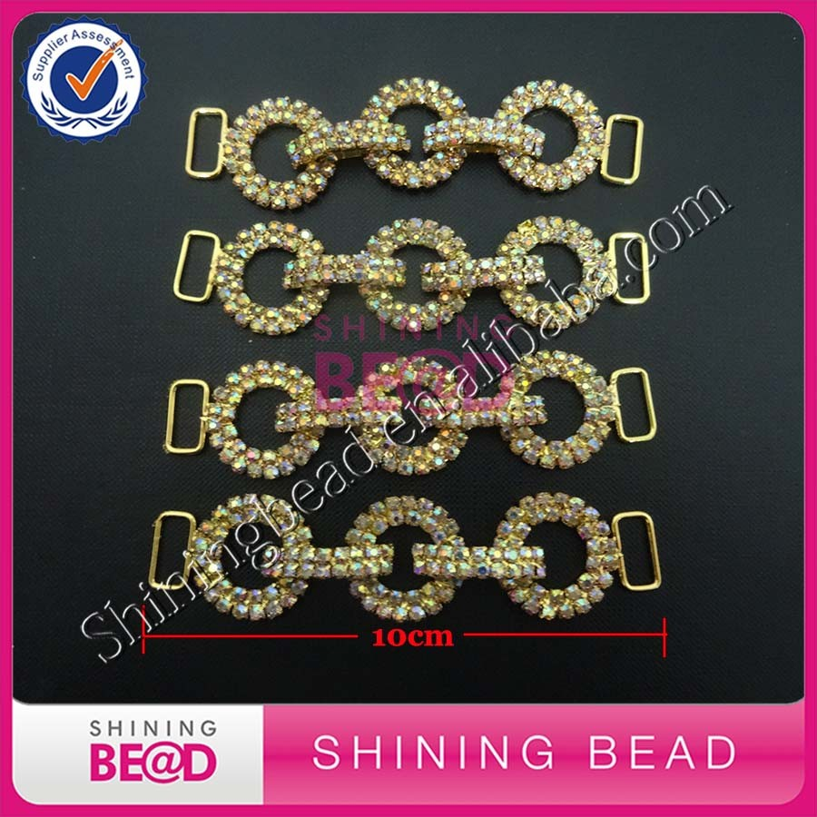 Multi rings AB rhinestone bikini connector Crystal Bikini Connector jewelry For Bikini