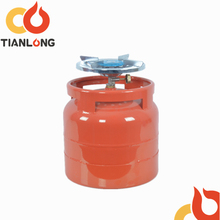 6kg/14.4L portable lpg gas cylinder/empty bottles with brass valve