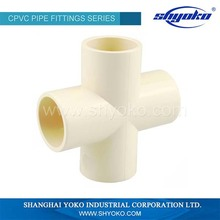 Best price superior quality pvc cross joint pipe fitting