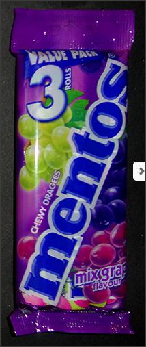 Chewy Dragees Mix Grapes Mentos