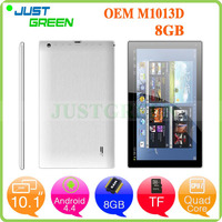 Justgreen M1013D Tablet 10.1 inch 8 GB 1024X600 Lithium battery 3200 mAh Android 4.4 OS Tablet PC
