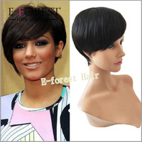 Glueless Short Wig Human Hair Virgin Brazilian Hair Straight Bob Style Glueless Full Lace Human Hair Wig For Black Women