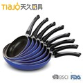 aluminum non-stick frypan with color coating outside