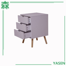 Yasen Houseware Outlets China Made Newly 3 Drawer Movable Filing Cabinet,Colorful File Cabinet,Wooden File Cabinet