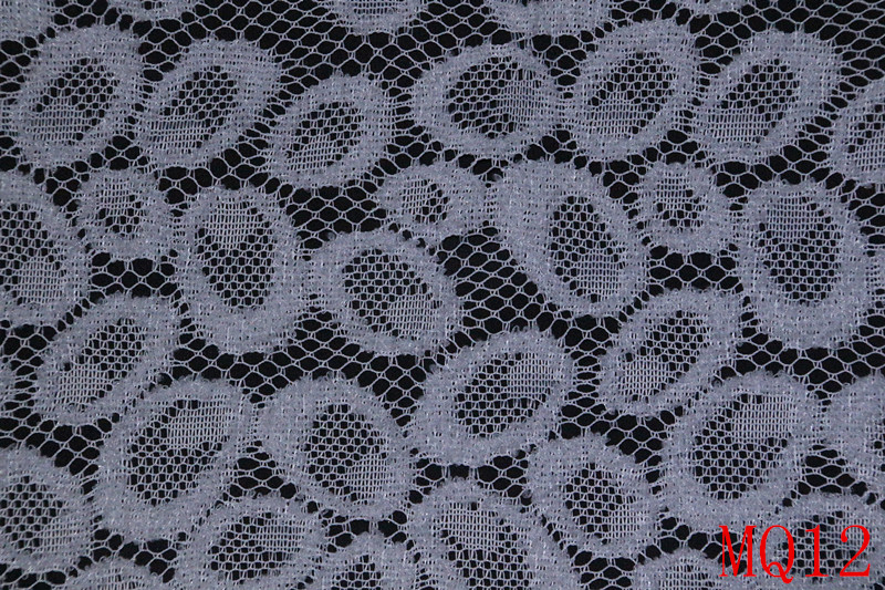 100 Polyester White Lace Fabric Korea for Garment