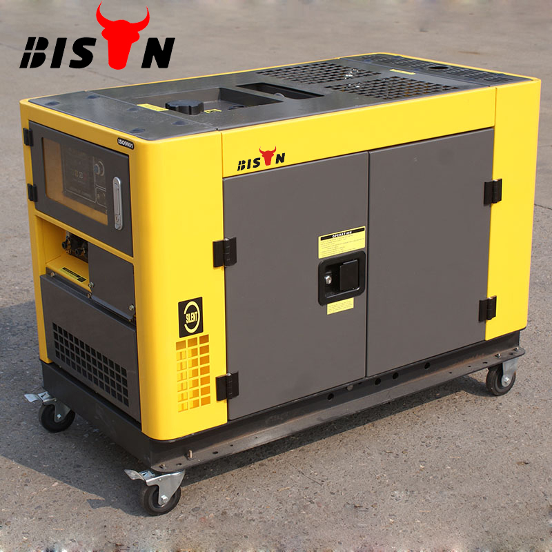 BISON CHINA TaiZhou 380v 9kw 9kva 10kw 10kva 50hz Electric Start Portable 2 cylinder super silent Diesel Generator Price