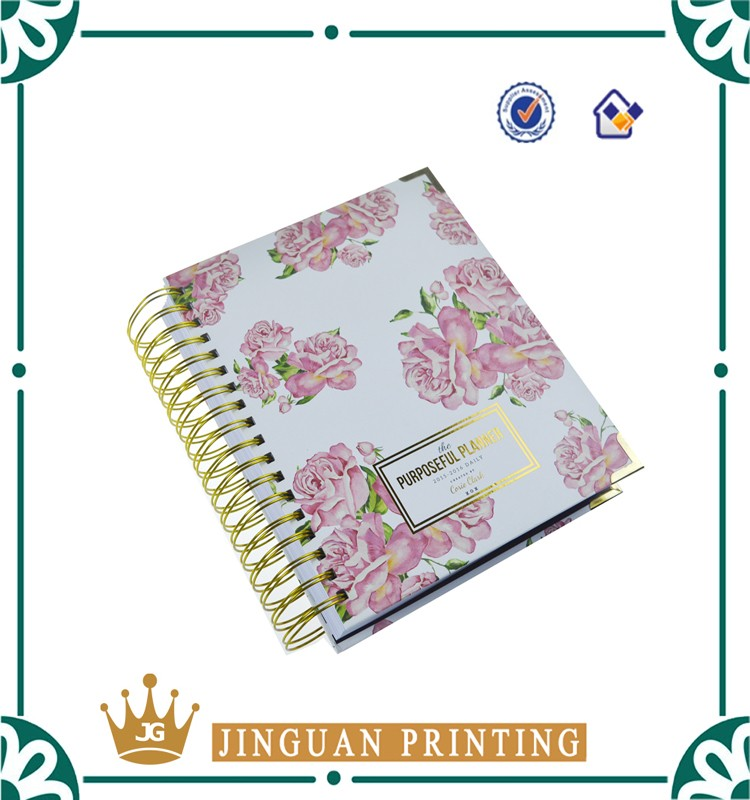 2017 custom hot stamped and spiral binding notebook journals