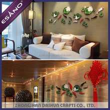 Hot sale abstract 3D nature wall stickers for Home Decoration , hotel , restaurant