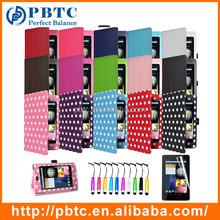Wholesale Cheap Polka Dot PU Leather Cover Case For Google Nexus 7
