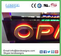 outdoor light up letters front lit and backlit acrylic led channel letters 3D front lit and backlit letter sign