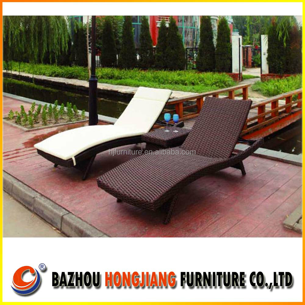 Hot Seal Outdoor Wicker Patio Rattan Chais Lonuge Beach Sun bed