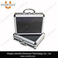 strong aluminum packaging boxes with sturdy metal handle safty code lock for radar detector