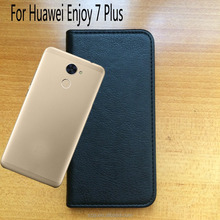 Hidden magnetic Flip Leather Wallet Case With Card Slot Cover For Huawei Enjoy 7 Plus
