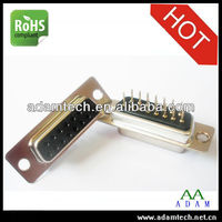 power supply factory d-sub db 15 pin solder type female vga connector