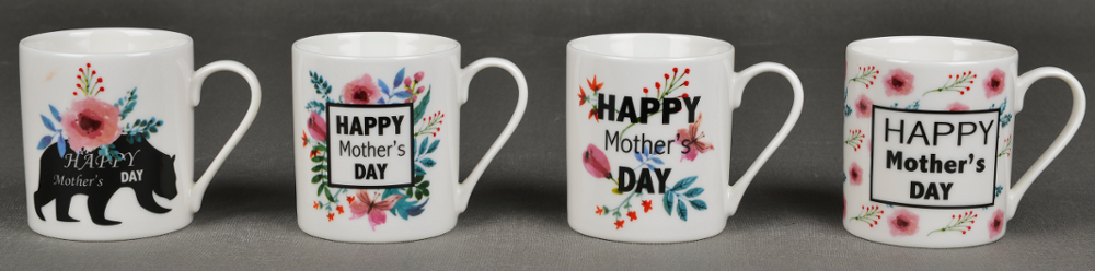 Wholesale bulk cheap custom shape decal printed ceramic coffee mug