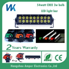 DC12v IP68 CE&RoHS 54w dual row 9.5'' high quality auto 4X4 led work lamp light bar