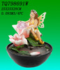Solar Power & Electric Fairy Themed Water Fountain - Yard Garden Decor