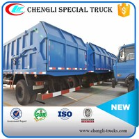 Dongfeng 145 4x2 Sealed Waste Transportation Vehicle Hydraulic Rear Loader Garbage Truck