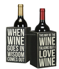 Single Wine Bottle Holder - Whimsical Wine Box Sign