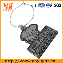 2017 die casting Elephant shaped badge plating ancient tin