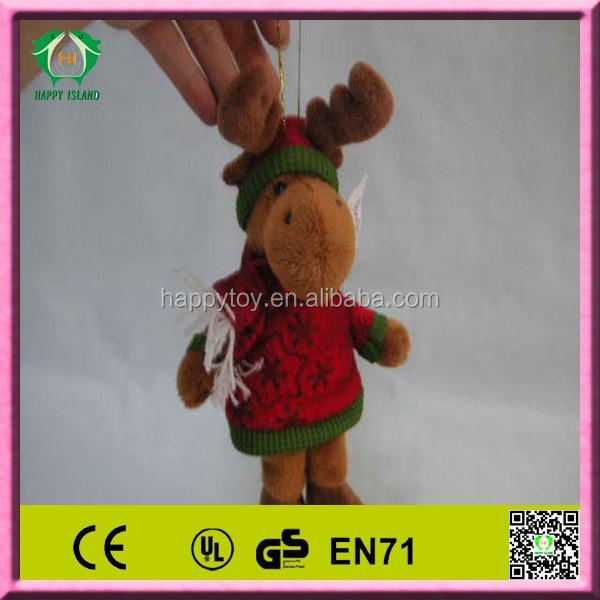 HI EN71 2014 hot sale funny christmas deer stuffed toy